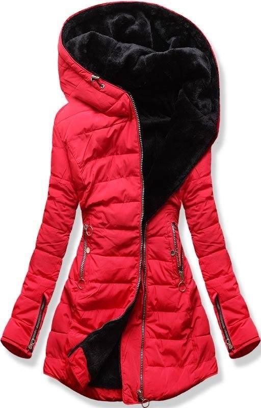1ee4718185 38558 Fekete színű téli kabát plüss béléssel kényelmes meleg kabát ...